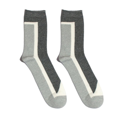 Gotstyle - N/A Socks Hi-Ankle Sock - Grey/White