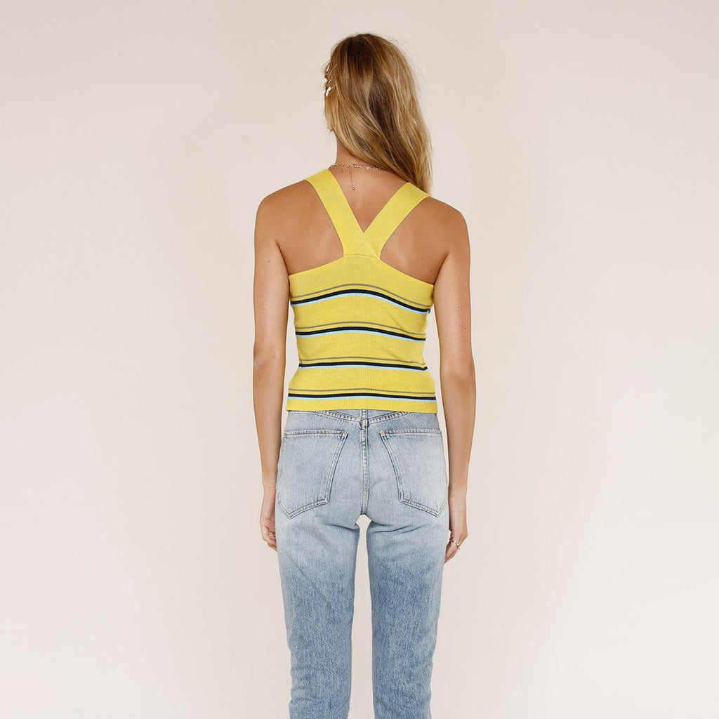 Heartloom Tops Viva Stripe Chunky Straps Knit Tank - Gotstyle The Menswear Store