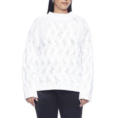 Hilary MacMillan Sweaters Cable Knit Sweater - White - Gotstyle The Menswear Store