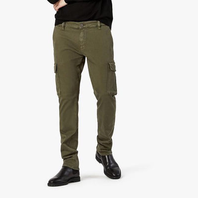 34 Heritage Denim Carson Slim Leg Cotton Twill Cargo Pants - Olive - Gotstyle The Menswear Store