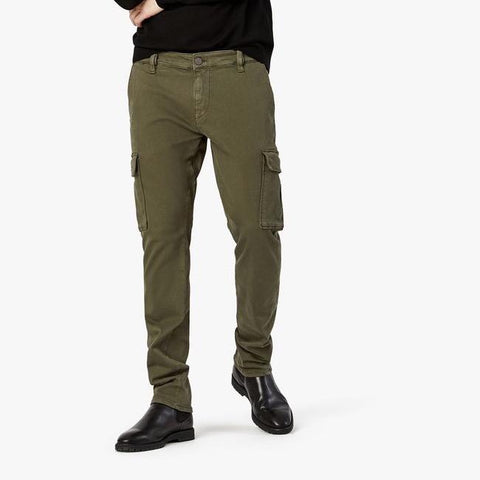 Carson Slim Leg Cotton Twill Cargo Pants - Olive - Gotstyle The Menswear Store
