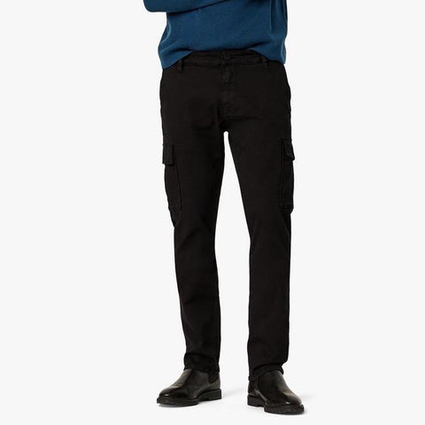Carson Slim Leg Cotton Twill Cargo Pants - Black - Gotstyle The Menswear Store