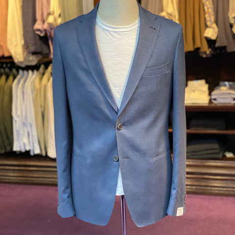 Elray Welt Herringbone Structured Jersey Blazer - Gotstyle The Menswear Store