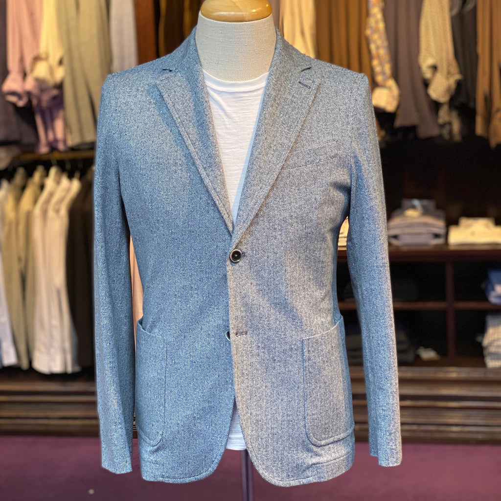 Circolo 1901 MS - Blazers Herringbone Patch Pocket Jersey Blazer - Gotstyle The Menswear Store
