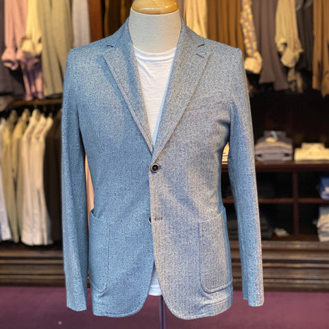 Herringbone Patch Pocket Jersey Blazer - Gotstyle The Menswear Store