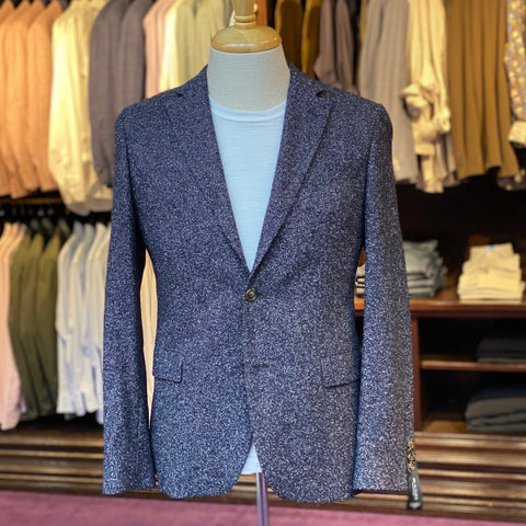 Wool/Cashmere Blend Tweed Effect Blazer - Gotstyle The Menswear Store