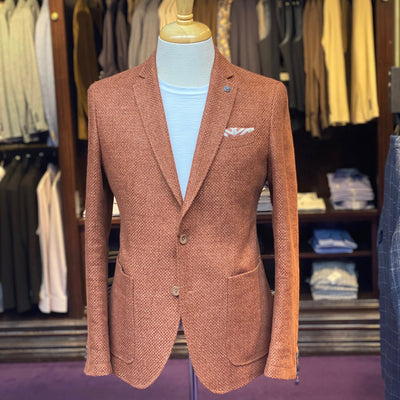 Club of Gents Blazers Hopsack Patch Pocket Linen / Cotton Blazer - Gotstyle The Menswear Store