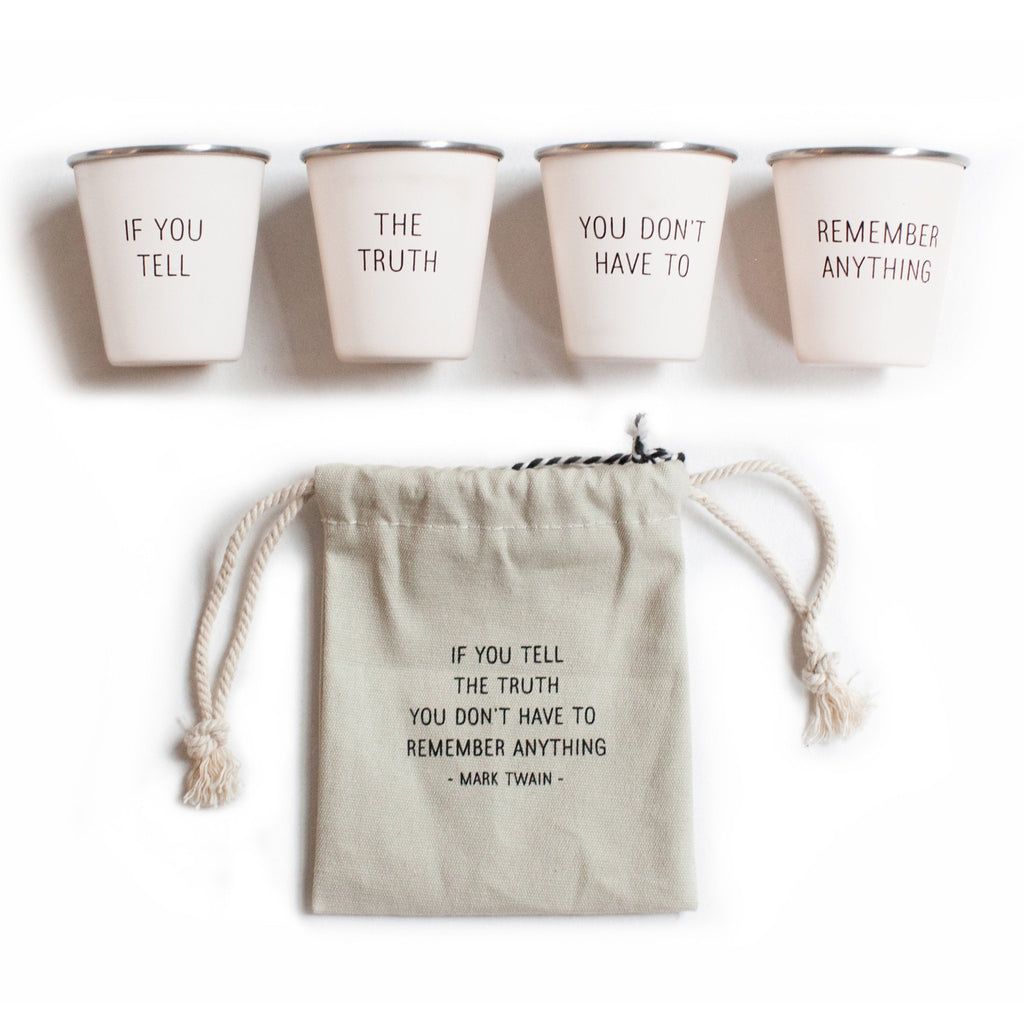 Izola MA - Gifts Izola - Mark Twain Shot Glass Set - Gotstyle The Menswear Store