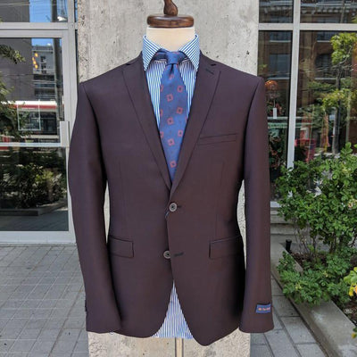 Paul Betenly Blazers Griffin Wool Blazer - Burgundy - Gotstyle The Menswear Store