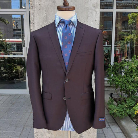 Paul Betenly MT - Suits Griffin Wool Blazer - Burgundy - Gotstyle The Menswear Store
