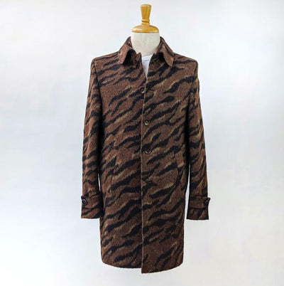 Gotstyle - Club of Gents Jackets Wool/Mohair Feline Print Coat