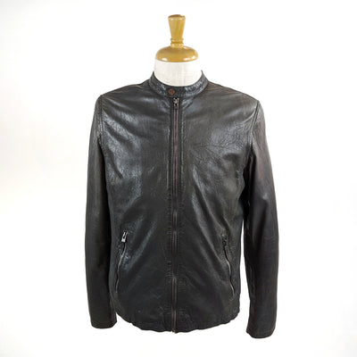 Moncton Biker Leather Jacket - Black - Gotstyle The Menswear Store
