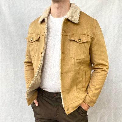 Benson Jackets Faux Shearling Trucker Jacket - Gotstyle The Menswear Store