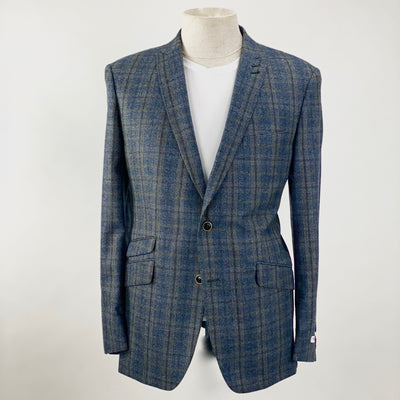 Without Prejudice Blazers Plaid Check Peak Lapel Blazer (LAST ONE) - Gotstyle The Menswear Store