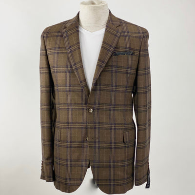 Sand Copenhagen Blazers Plaid Checks Angelico Wool Blazer (LAST ONE) - Gotstyle The Menswear Store