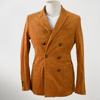 Scotch & Soda Blazers Double Breasted Patch Pocket Heavy Corduroy Blazer - Gotstyle The Menswear Store