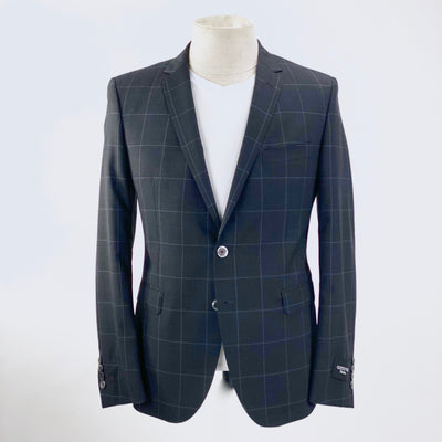 Gotstyle Blazers Windowpane Check Slim Blazer (LAST ONE) - Gotstyle The Menswear Store