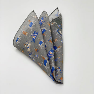 Gotstyle - Amanda Christensen Pocketsquares Warrior Printed Linen Pocket Square