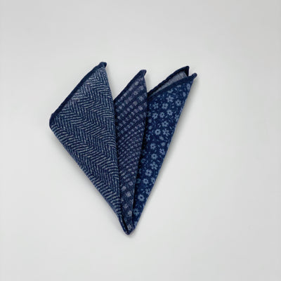 Wool 4 Way Printed Pocket Square - Gotstyle The Menswear Store
