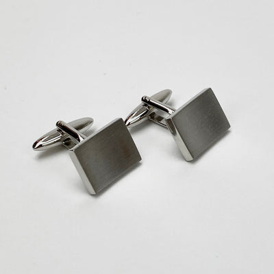 Curved Brushed Steel Cufflinks - Gotstyle The Menswear Store