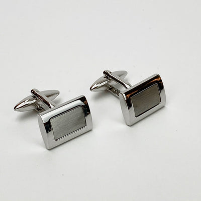 Gotstyle - Weber Jewellery Brushed Framed Stainless Steel Cufflinks