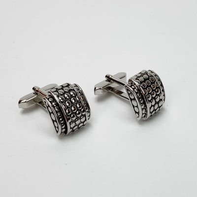 Gotstyle - Weber Jewellery Stainless Steel Bubble Pattern Cufflinks