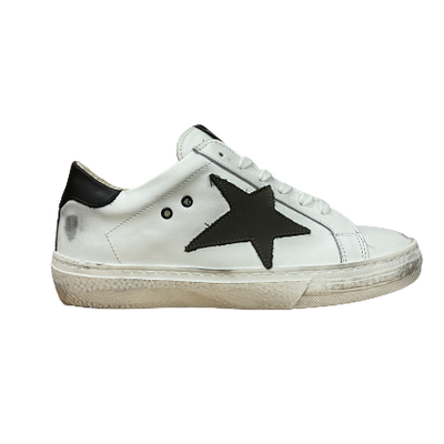 Gotstyle - Piranha Shoes Distressed Leather Sneaker with Star