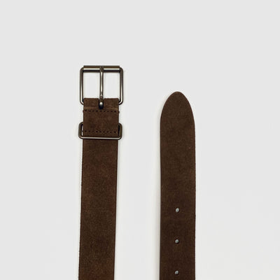 Anderson's Belts Suede Leather Belt - Brown - Gotstyle The Menswear Store