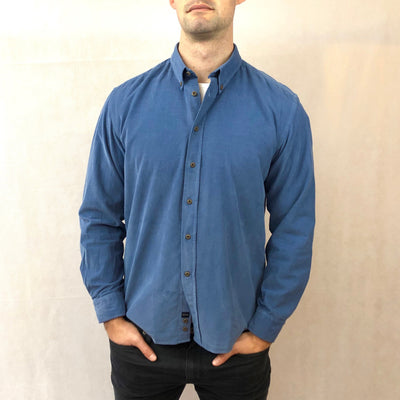 Micro Cord Button Down Collar LS Shirt - Gotstyle The Menswear Store