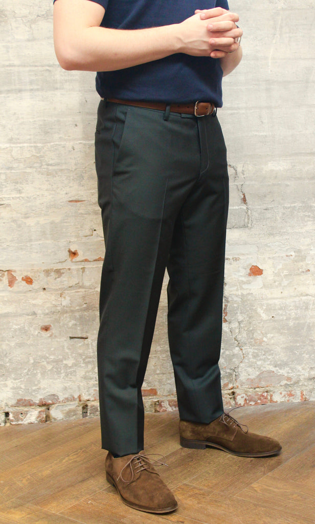 Tiger Of Sweden MT - Dress Pants Tiger of Sweden Solid Barberis Wool Pant - Dark Green - Gotstyle The Menswear Store