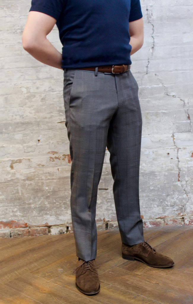Tiger Of Sweden MT - Dress Pants Tiger of Sweden Tonal Windowpane Check Wool Pant - Grey - Gotstyle The Menswear Store