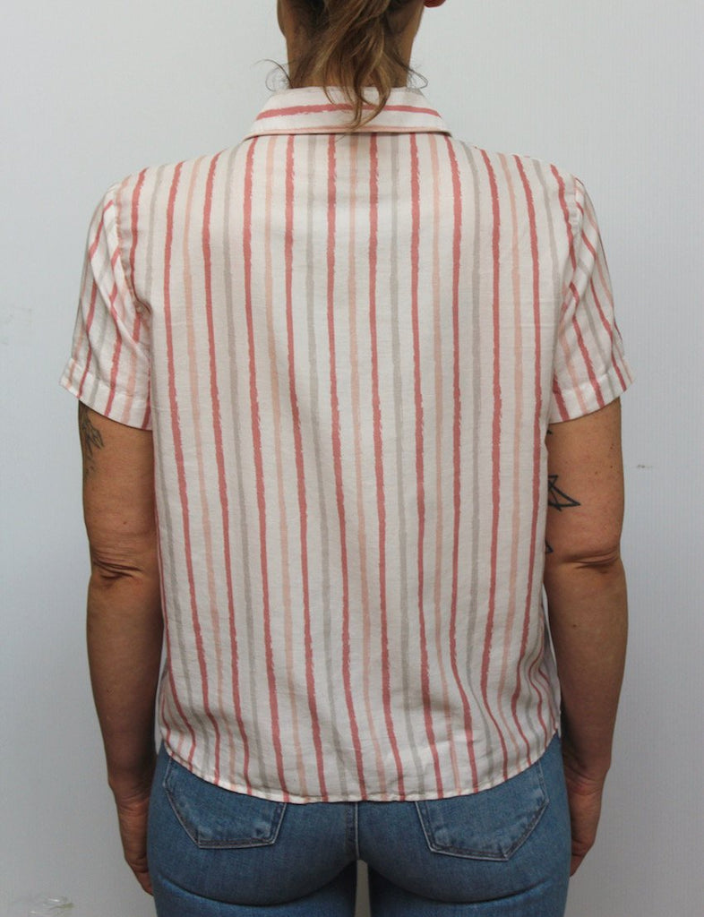 Benson W WC - Tops Stripe SS Camp Collar Shirt - Gotstyle The Menswear Store