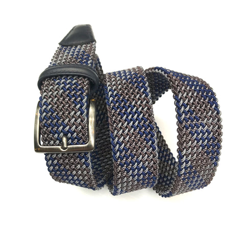 Anderson's MA - Belts Tubular Stretch Woven Belt - Multi - Gotstyle The Menswear Store