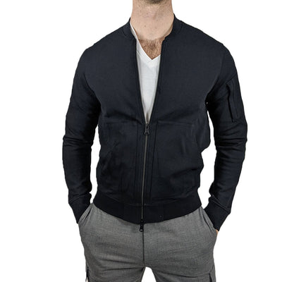 J.Lindeberg Sweaters Full Zip Jersey Bomber Sweatshirt - Gotstyle The Menswear Store