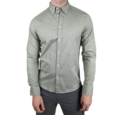 Gotstyle - J.Lindeberg Collar Shirts Stretch Oxford Slim Fit Shirt - Moss Green