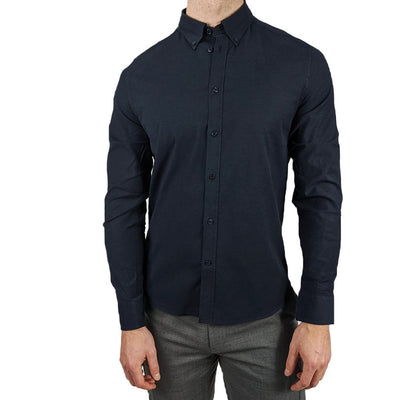 Gotstyle - J.Lindeberg Collar Shirts Stretch Oxford Slim Fit Shirt - Navy