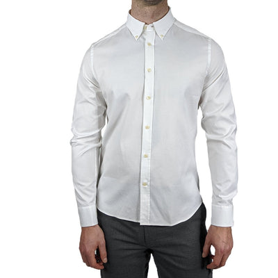 Gotstyle - J.Lindeberg Collar Shirts Stretch Oxford Slim Fit Shirt - White