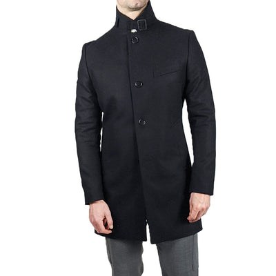 Gotstyle - J.Lindeberg Jackets Melton Wool Overcoat - Black