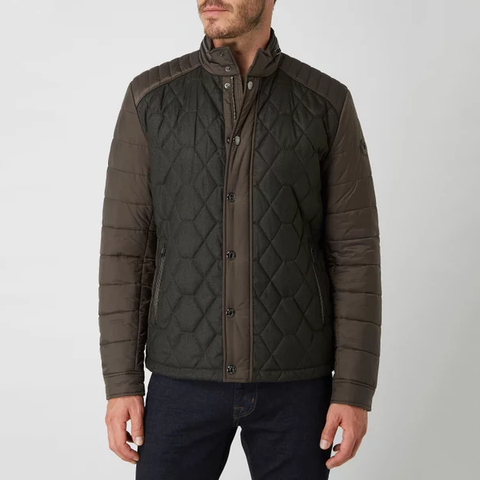 Joop! MS - Outerwear - General Bady Quilted Contrasting Bomber Jacket - Gotstyle The Menswear Store