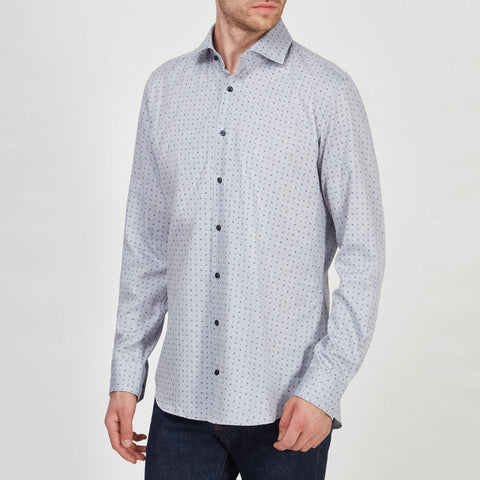 Joop! MS - Woven Tops - LS Wovens Micro Print on Herringbone Dress Shirt - Gotstyle The Menswear Store