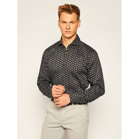 Joop! MS - Woven Tops - LS Wovens Foxes All-Over Print Slim Dress Shirt - Gotstyle The Menswear Store