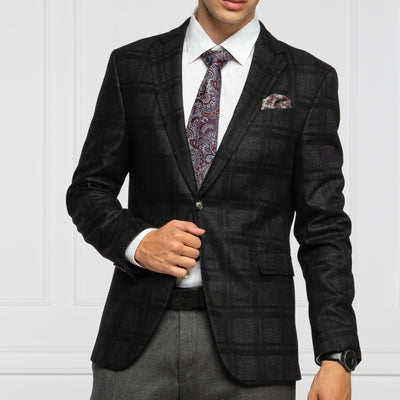 Joop! Blazers Shadow Checks Wool Blazer w stretch - Gotstyle The Menswear Store