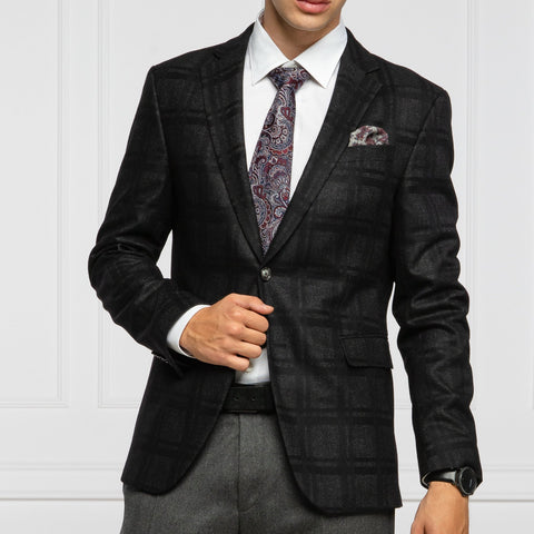Joop! MS - Blazers Hogen Shadow Checks Wool Blazer - Gotstyle The Menswear Store