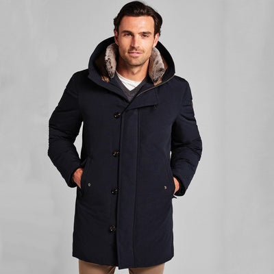 Joop! Coats Down Filled Hooded Coat with faux fur trim - Gotstyle The Menswear Store