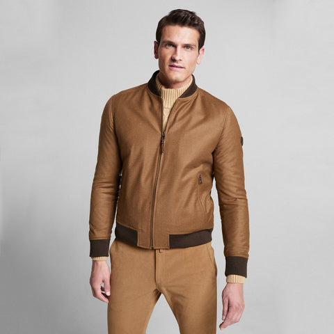 Indro Wool/Cashmere Zip Up Bomber