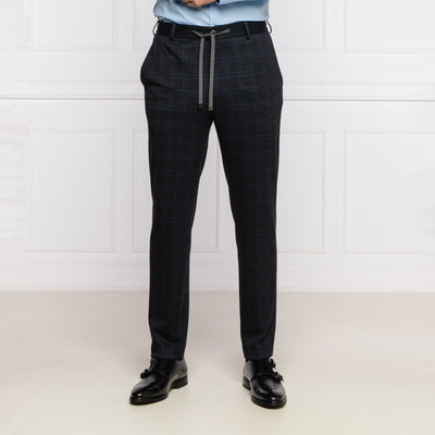 Joop! Pants Tonal Check Stretch Jersey Drawstring Travel Pant - Gotstyle The Menswear Store