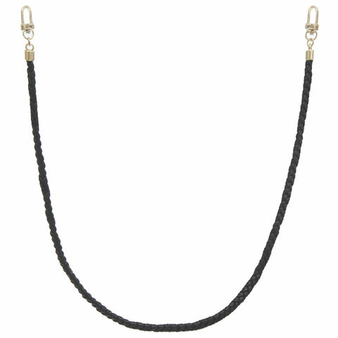 Braided Vegan Leather Cord Face Mask Holder - Black - Gotstyle The Menswear Store