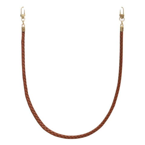 Braided Vegan Leather Cord Face Mask Holder - Nude - Gotstyle The Menswear Store