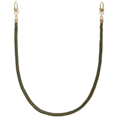 Jules Kae Mask Braided Vegan Leather Cord Face Mask Holder - Olive - Gotstyle The Menswear Store
