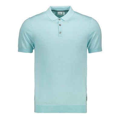 Gotstyle - Blue Industry Polos Solid Jersey Knit Polo - Aqua